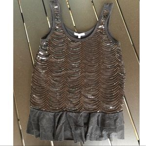 Charlotte Russe sequin tank top size small